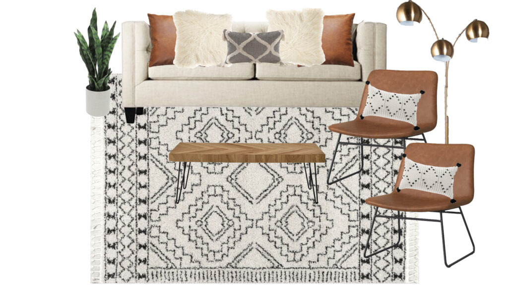 Boho Living Room Mood Board