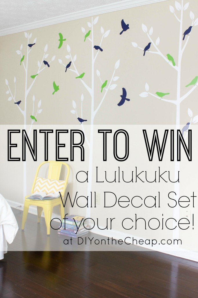 Lulukuku Wall Decal Giveaway: Enter to win at DIY on the Cheap!