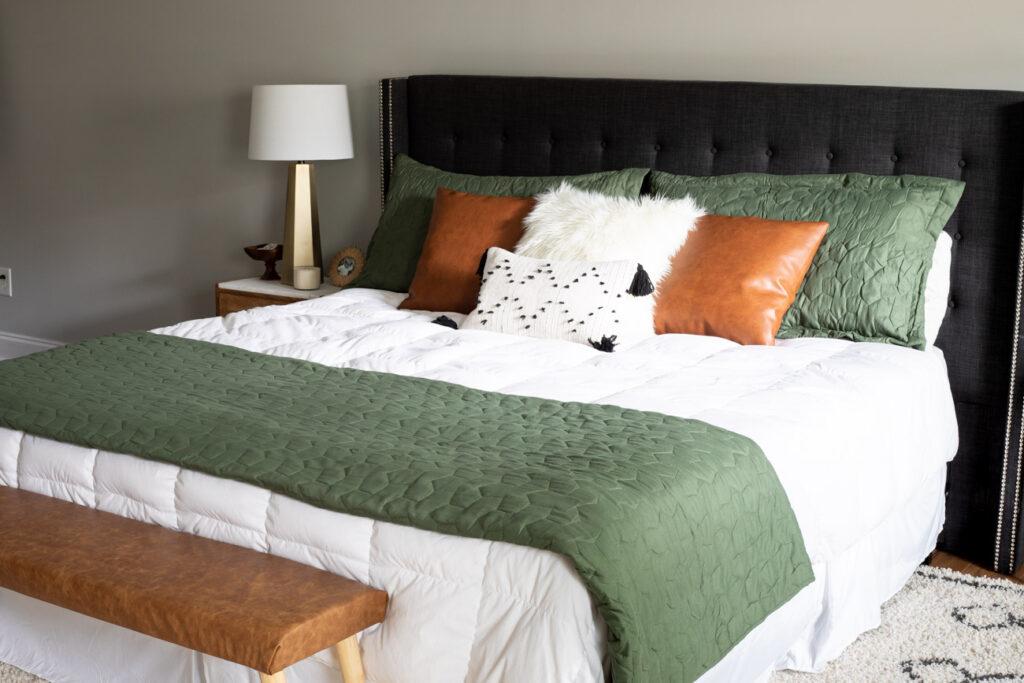 Modern boho bedroom decor