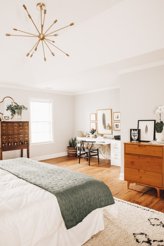 Modern boho master bedroom