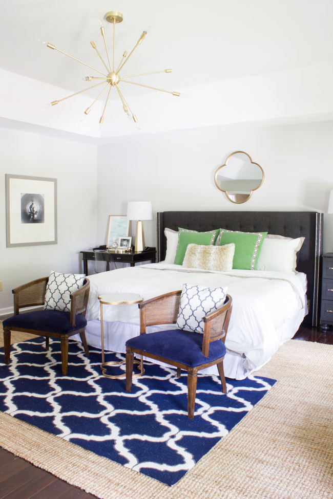 This beautiful master bedroom made over for the One Room Challenge is a calming retreat.