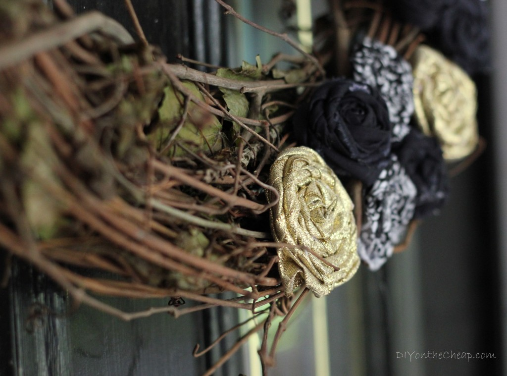 Black and Gold Fall Wreath