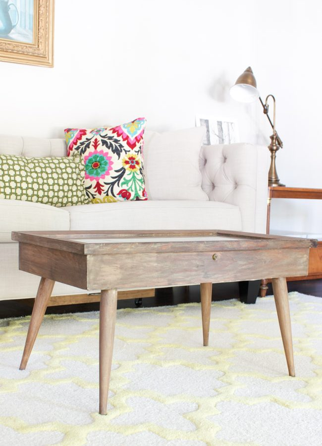 Mid-Century Modern Coffee Table {Thrifty Style Series}