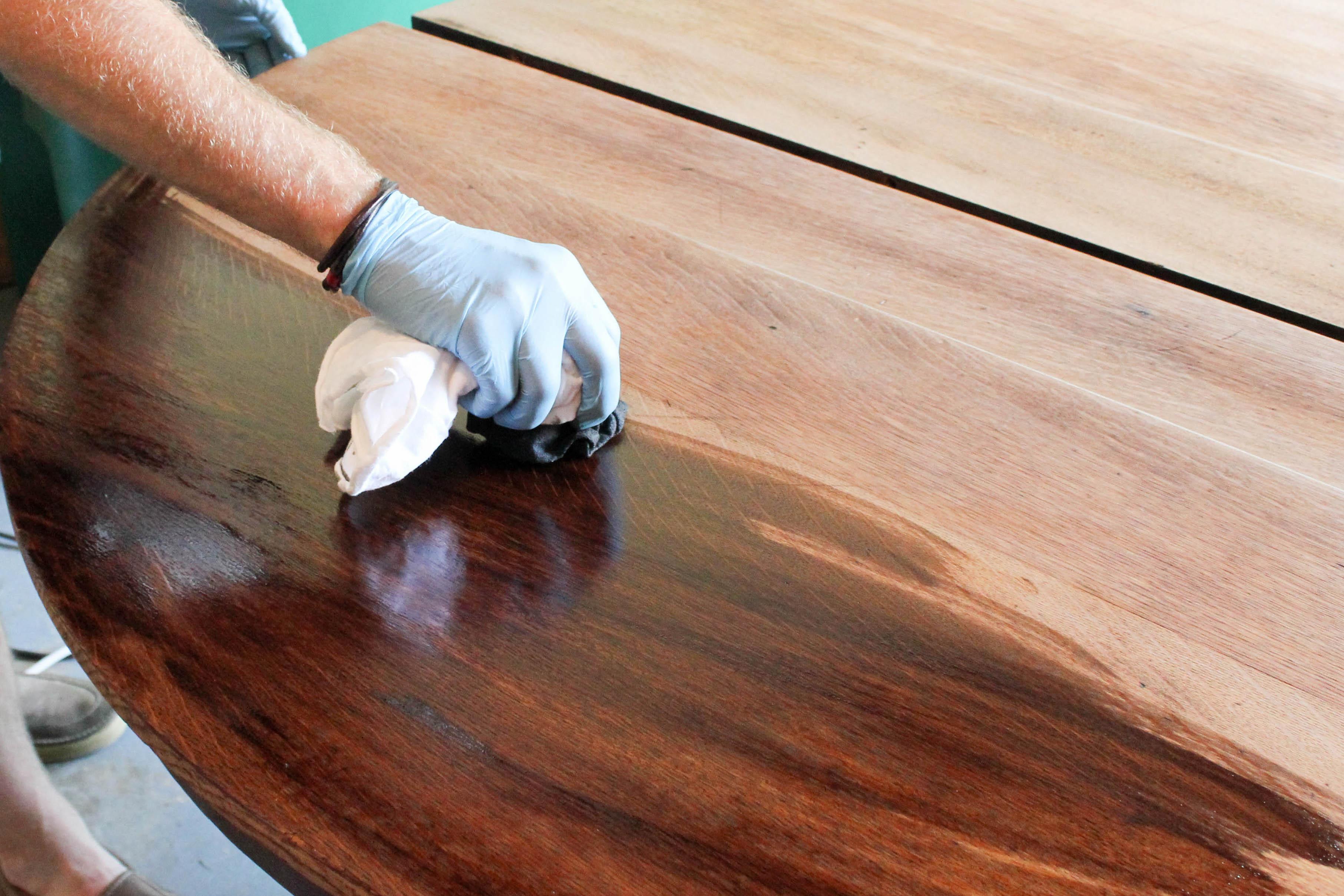 Antique Pedestal Table Makeover Minwax Blog