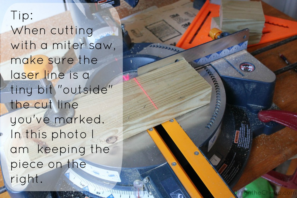 Miter Saw Tip (plus Wood Planter Tutorial) via DIYontheCheap.com