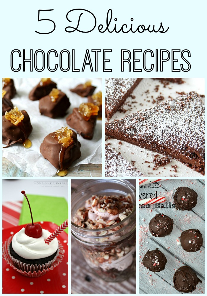 5 Delicious Chocolate Recipes + MM&J Link Party {87}