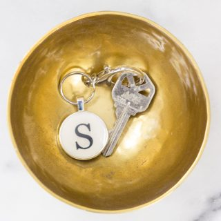 DIY Monogram Keychain Using Mod Podge Dimensional Magic