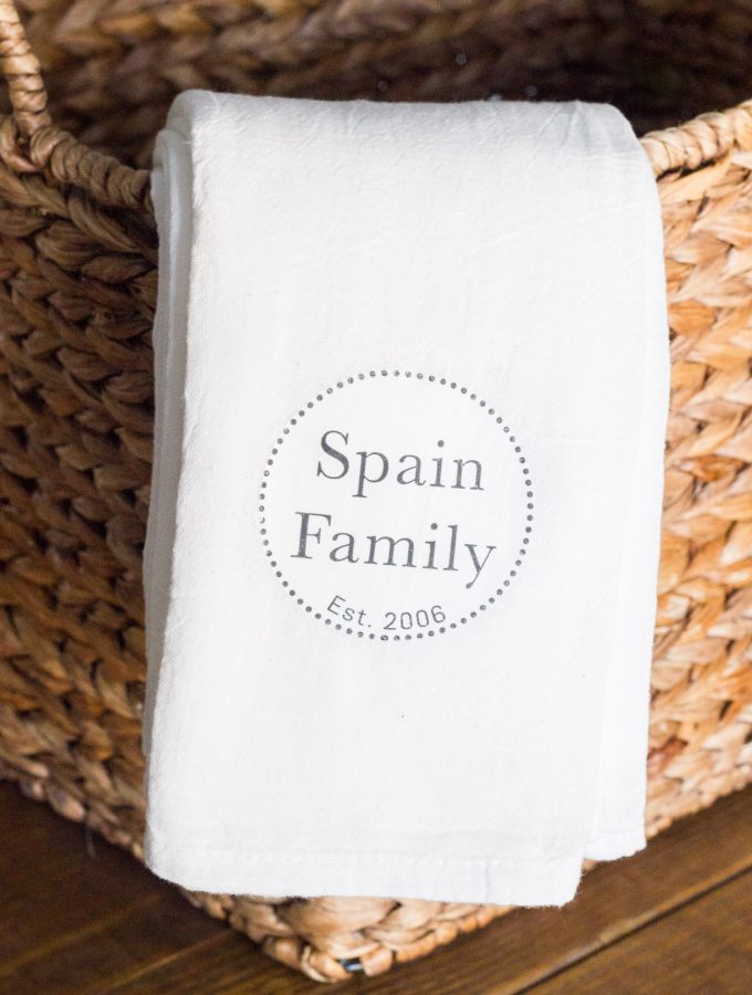 DIY Personalized Tea Towels