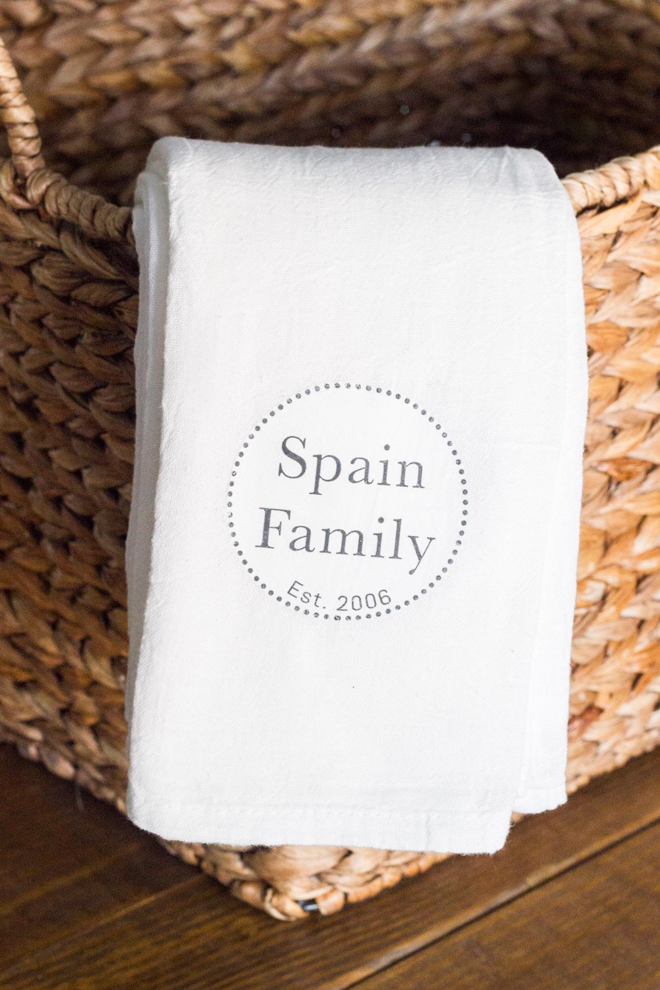 Diy Personalized Tea Towels Erin Spain