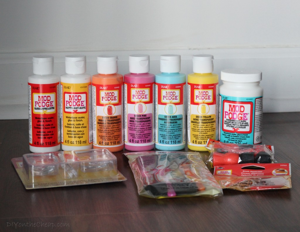Art Supply Storage: How to Make Tinted Glass Jars