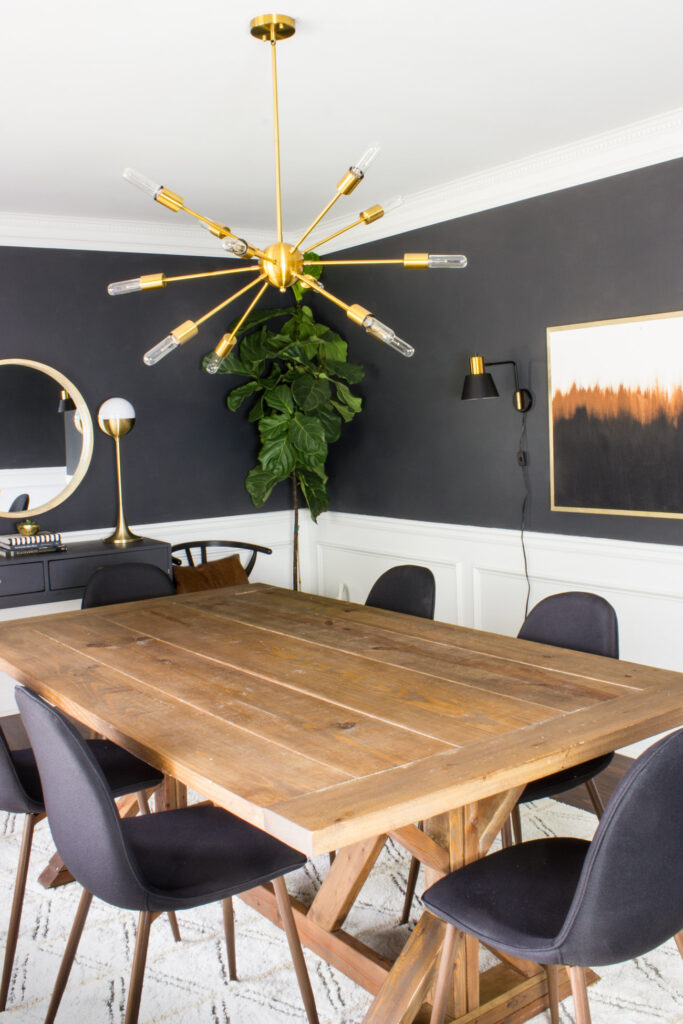 Wow! Check out this modern dining room makeover! Awesome transformation.