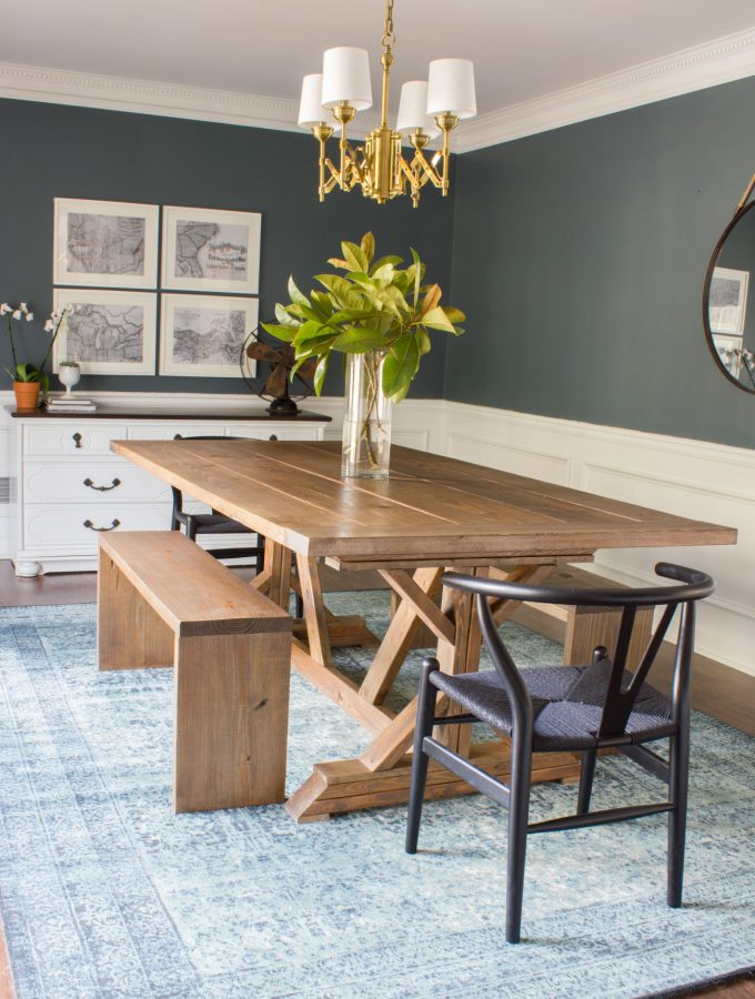 Modern Farmhouse Dining Table & Benches