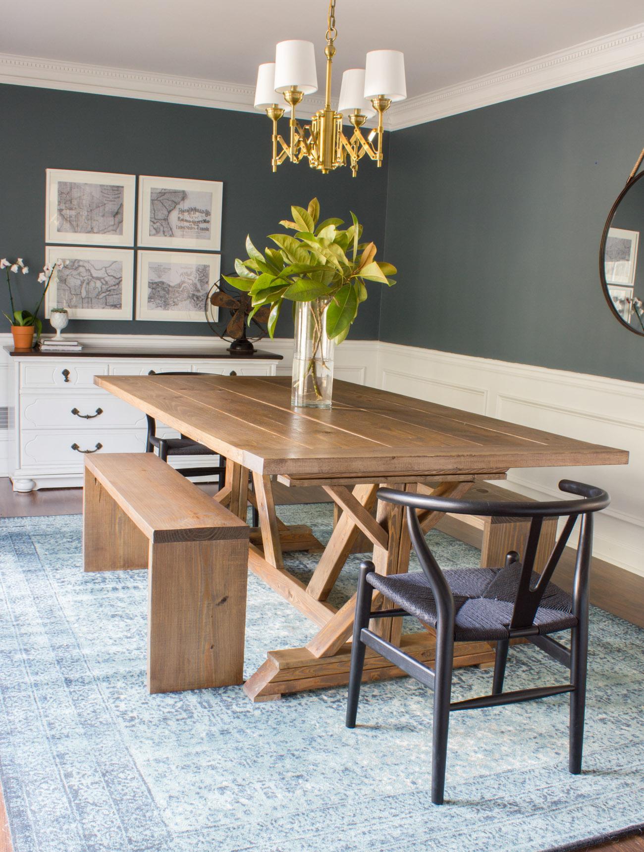 Marvelous Modern Farmhouse Dining Table Benches Erin Spain Ibusinesslaw Wood Chair Design Ideas Ibusinesslaworg