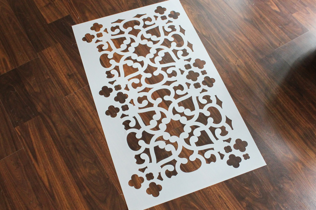 Modern Moroccan Lace Wall Stencil from Royal Design Studio.