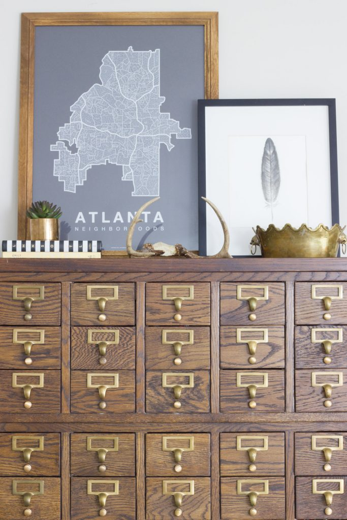 Seasonal Simplicity Fall Home Tour: Card Catalog