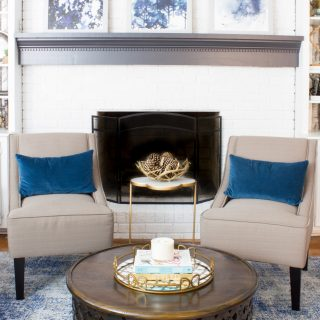 Get stylish arm chairs for a great price at Kohl's! The Charlotte Swoop Arm Chair looks great in this family room.