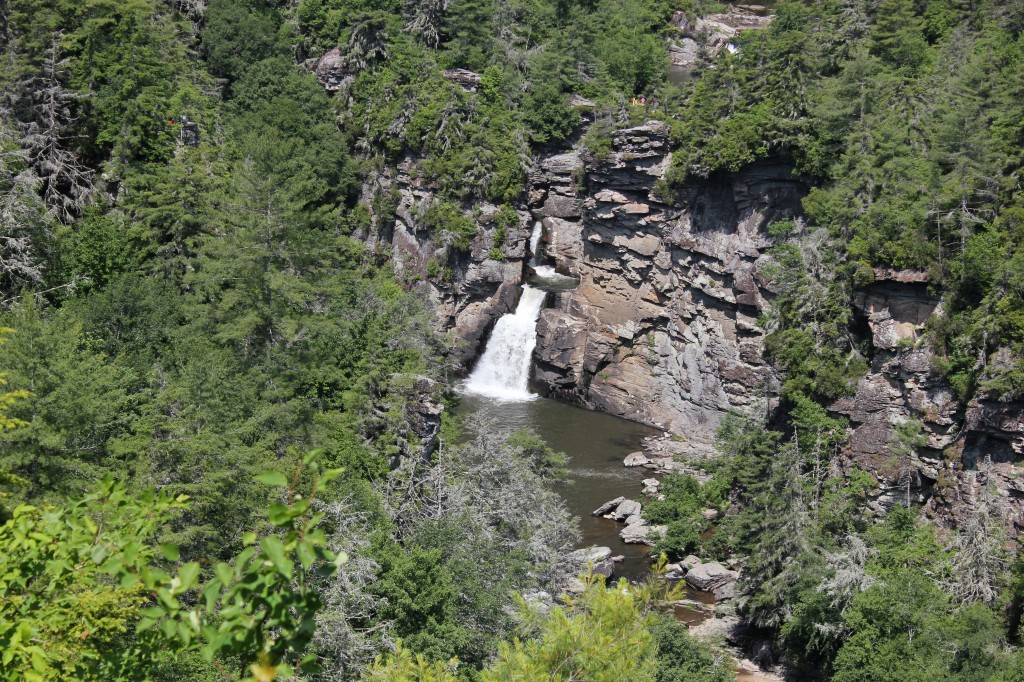 Linville Falls in the Blue Ridge Mountains
