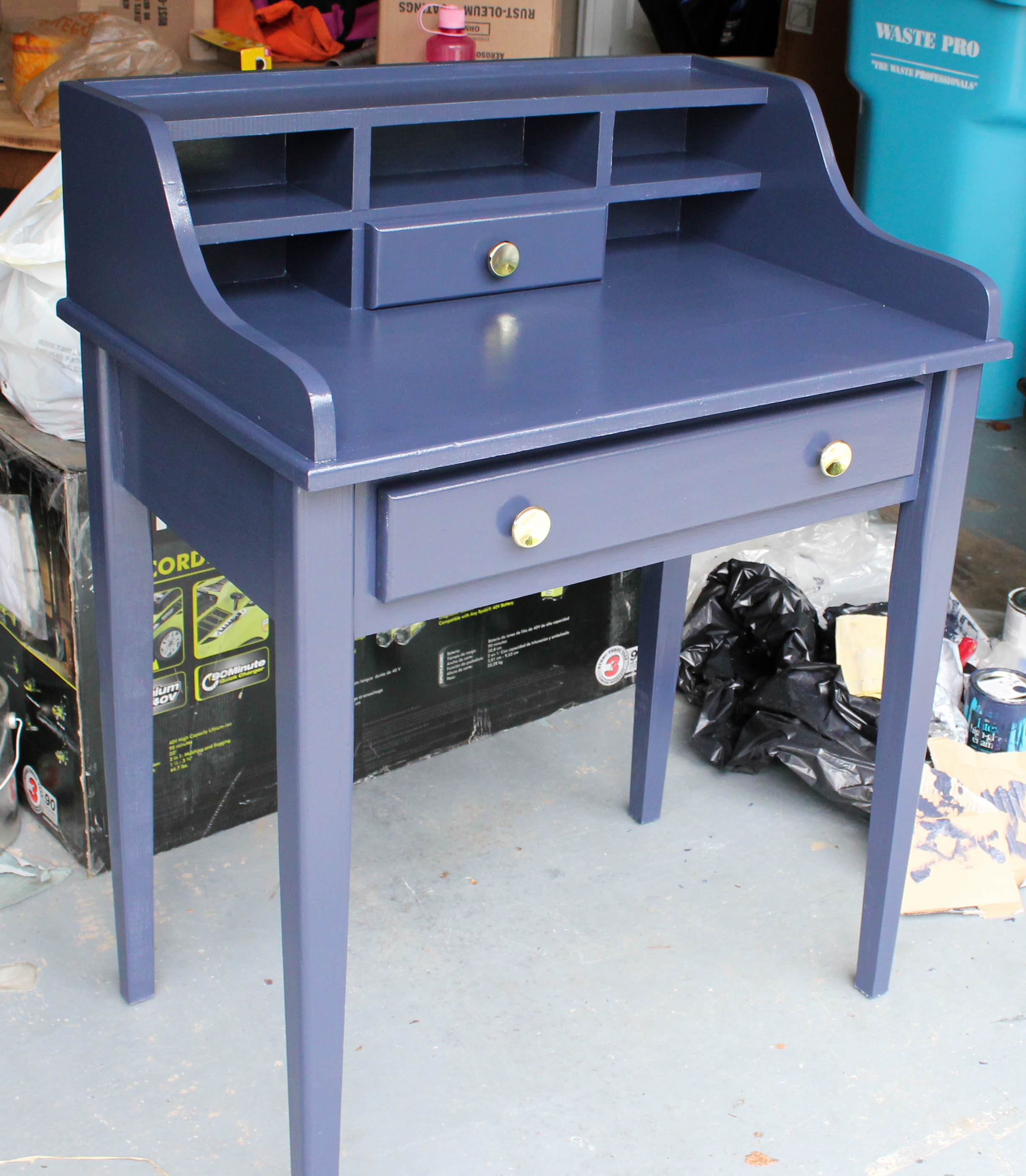 paint desk retro european brown blue epf finishes