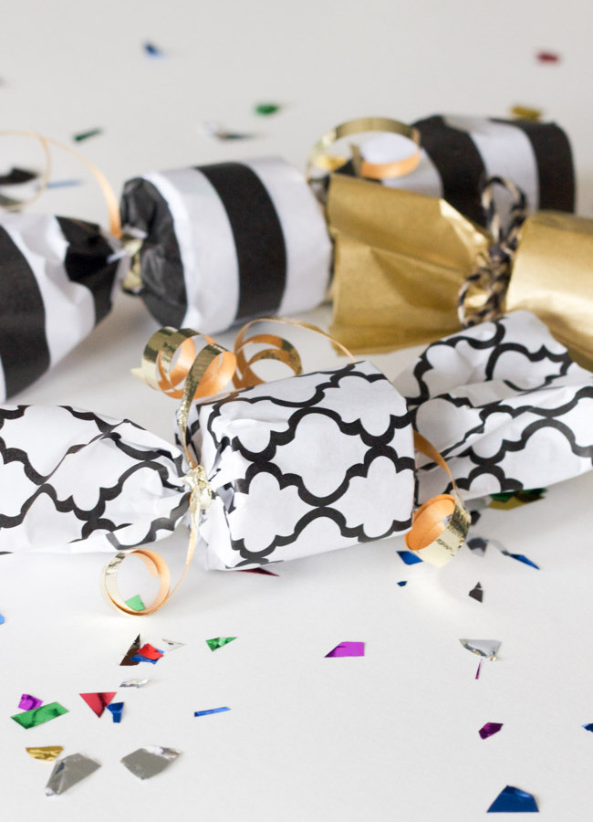 DIY Confetti Poppers for New Year's Eve