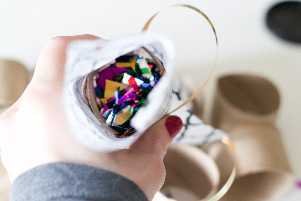 Make your own DIY Confetti Poppers for New Year's Eve! They are so simple and inexpensive.
