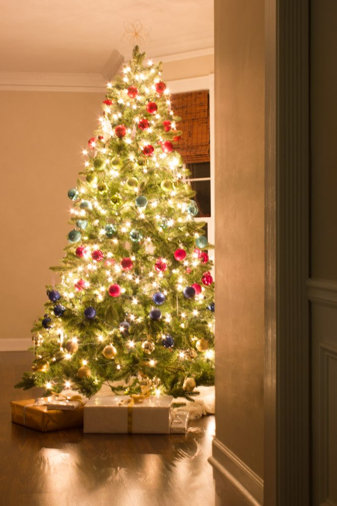 Colorful Christmas Tree Images.Holiday Home Tour Colorful Christmas Decorations