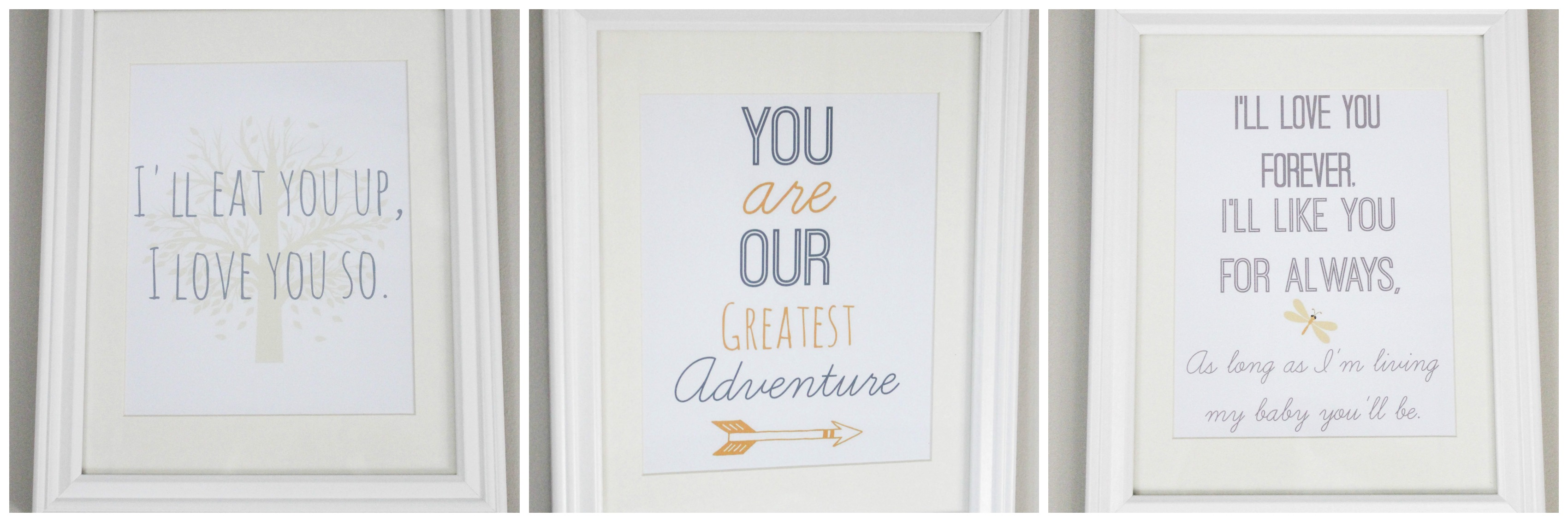 free printable nursery wall art! - erin spain