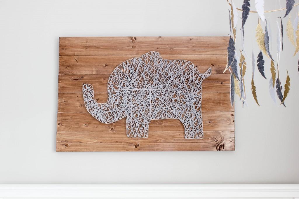 DIY Nursery String Art