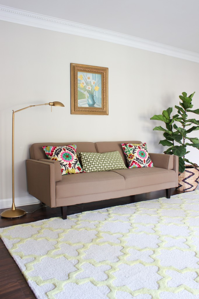 Spring Home Tour at DIY on the Cheap: Living Room/Office