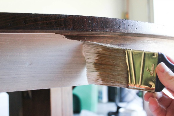Antique Pedestal Table Makeover