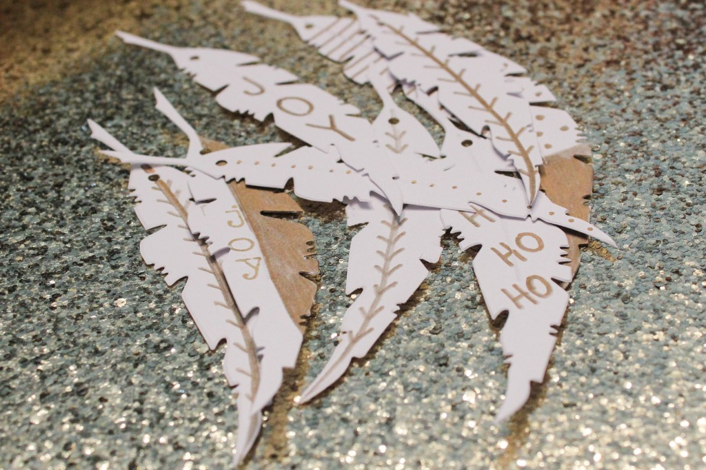 DIY Paper Feather Ornaments