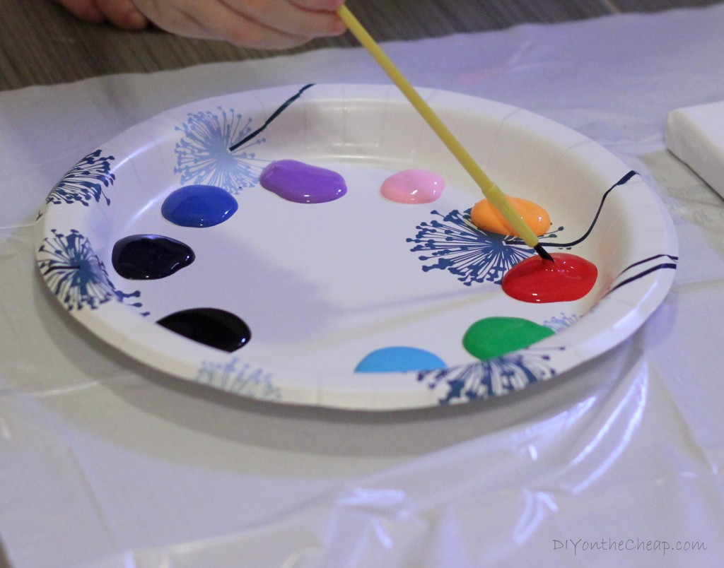 Kids' Art Project: Painting on Canvas