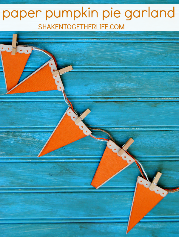 Paper Pumpkin Pie Garland - Thanksgiving Craft