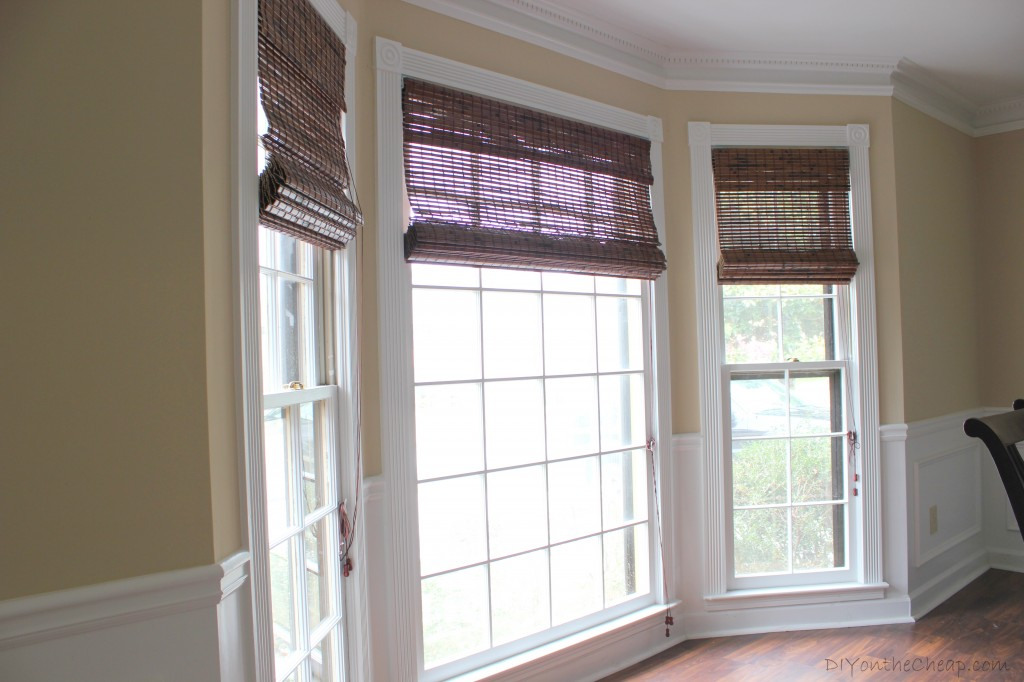 Payless Decor Premium Bamboo Roman Shades in Java Vintage