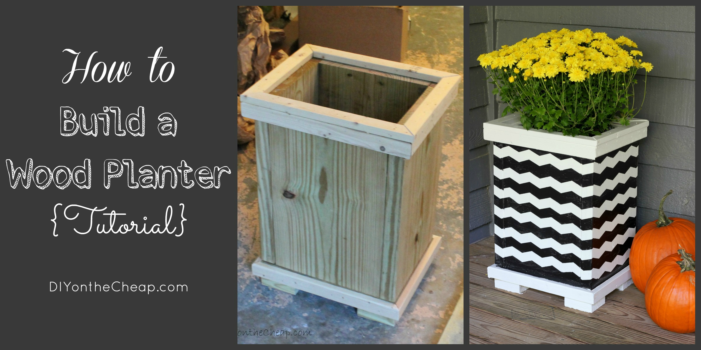 how to build a wood planter tutorial - Wood Planters