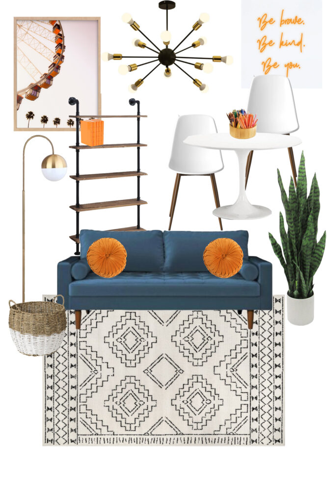 Check out this mood board for a fun tween hangout space!