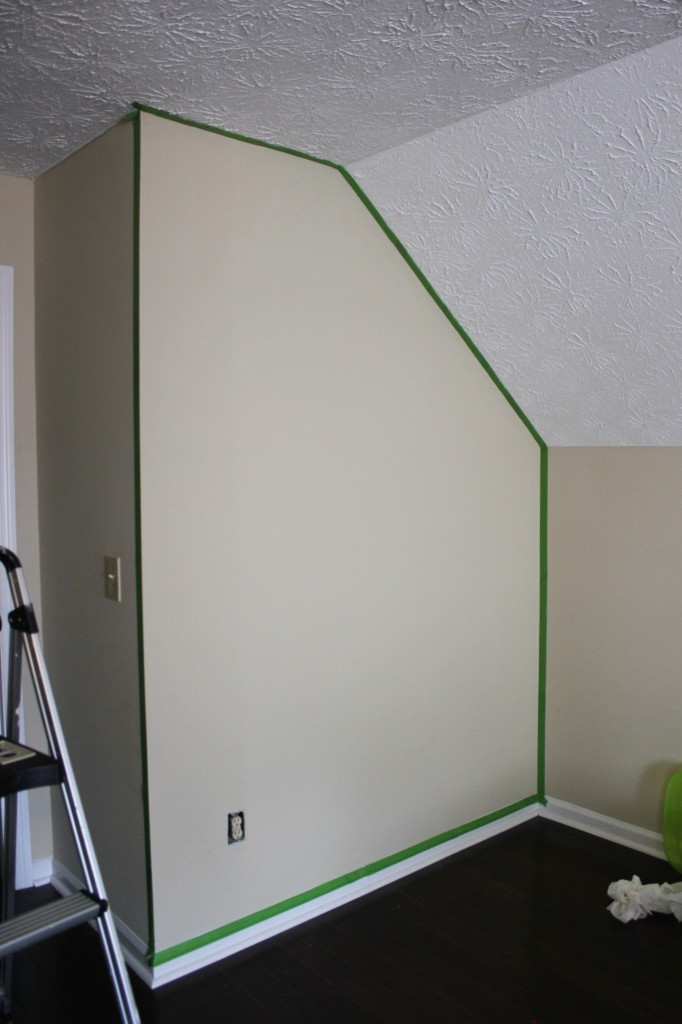 "Playroom Wall ""Before"""