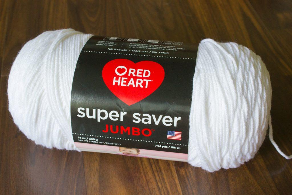 Red Heart yarn from Walmart