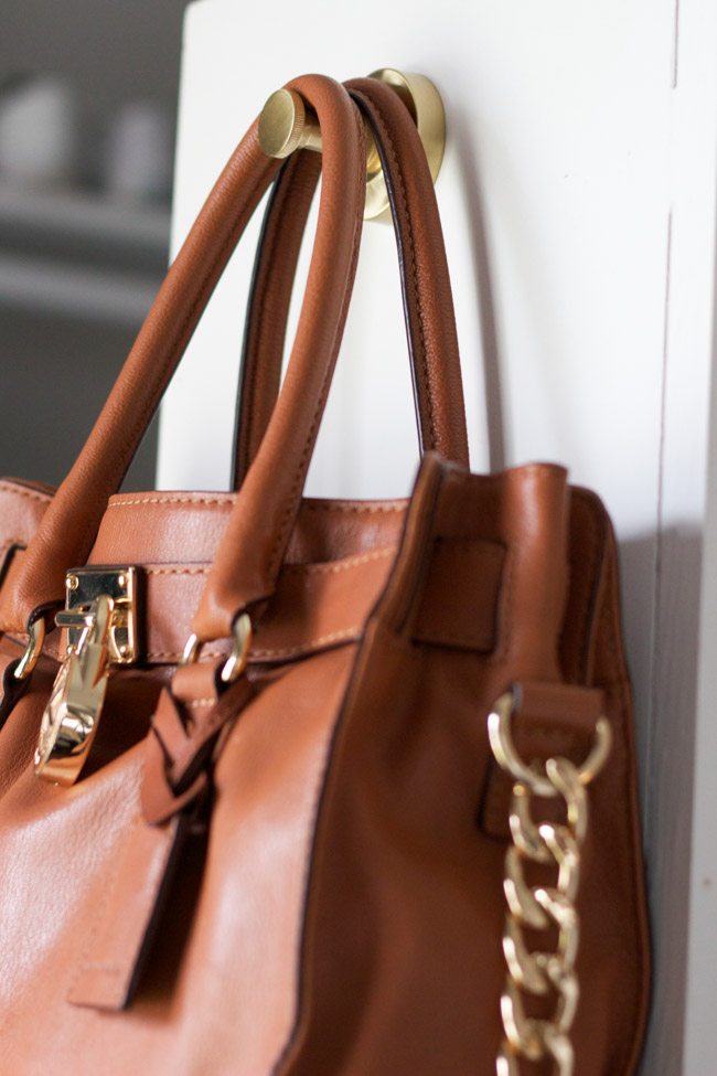 Closet makeover: purse hook