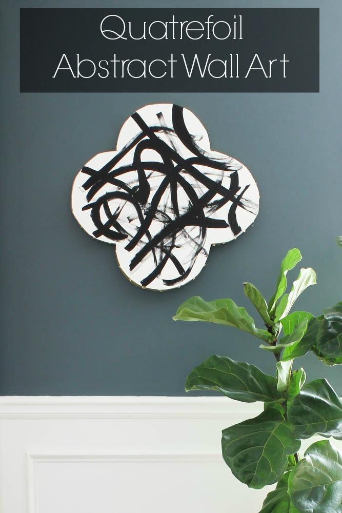 DIY Quatrefoil Abstract Wall Art via DIY on the Cheap. #MakeItFunCrafts