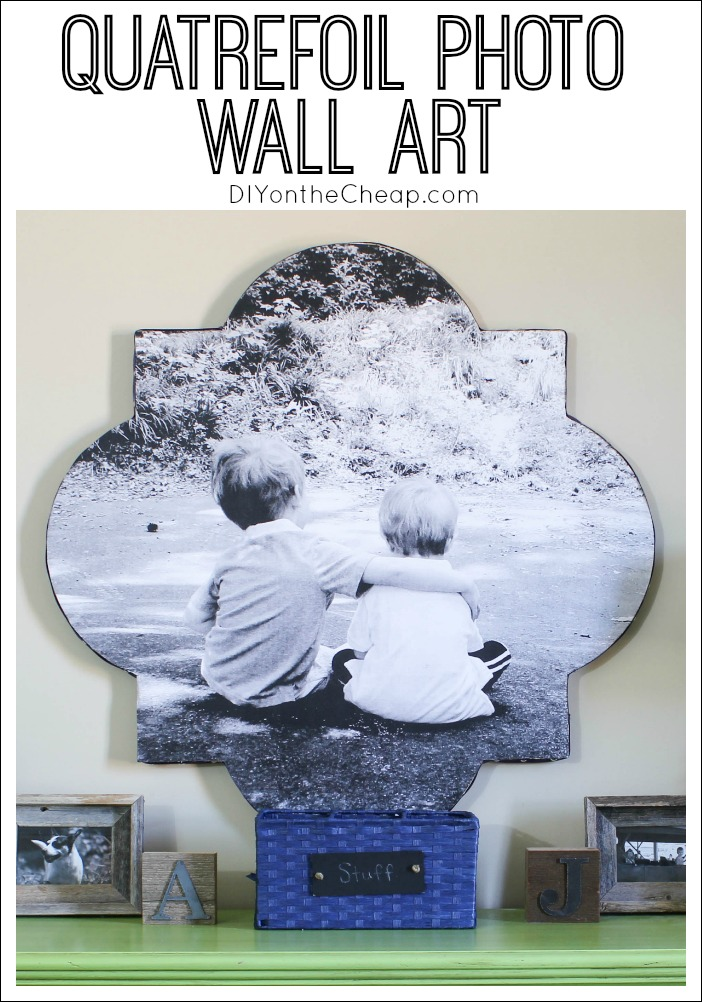 Quatrefoil Photo Wall Art Tutorial