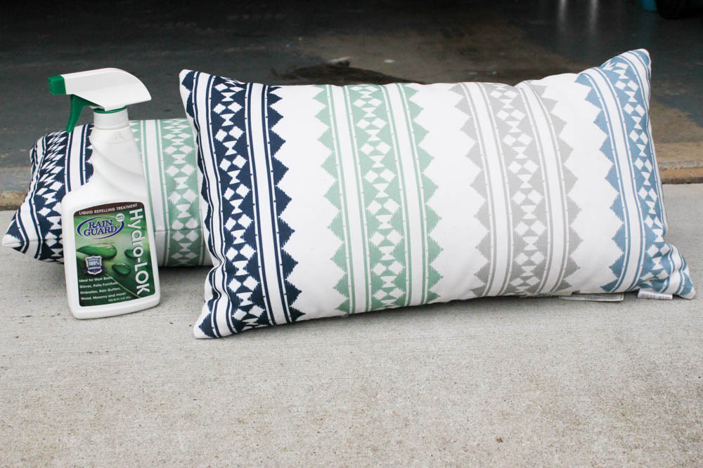 Protecting my Outdoor Pillows with Rainguard Hydro-Lok