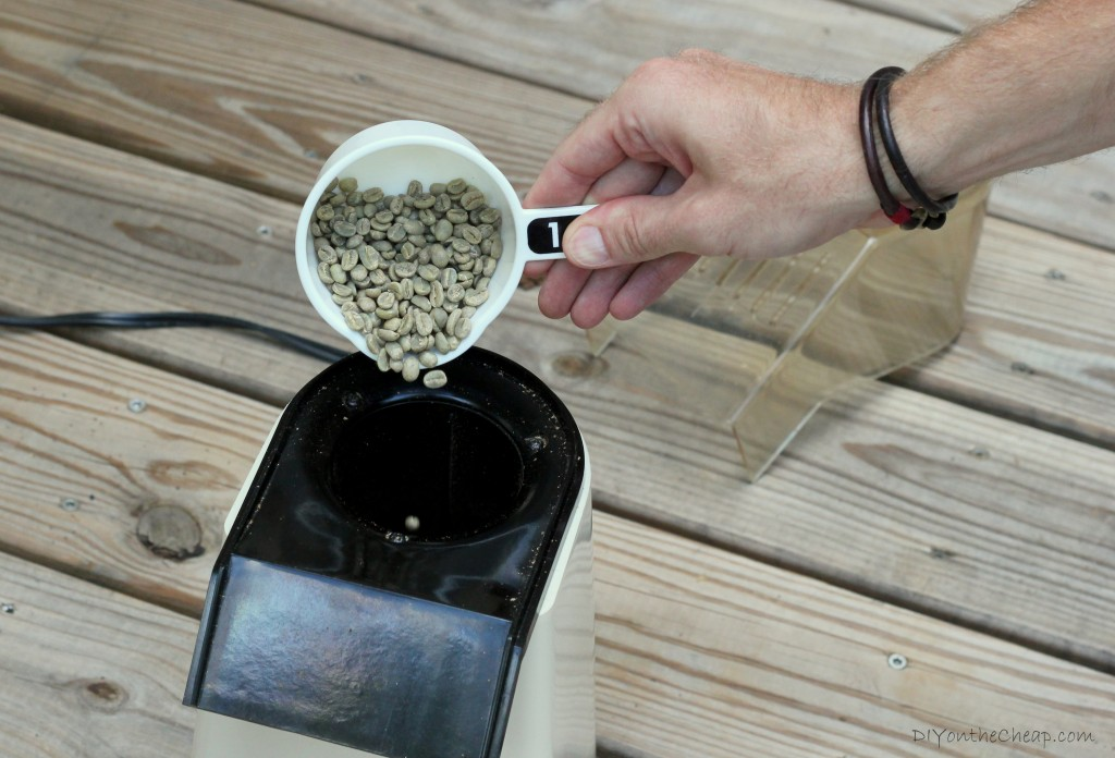 How to roast your own coffee beans using an old school popcorn machine!