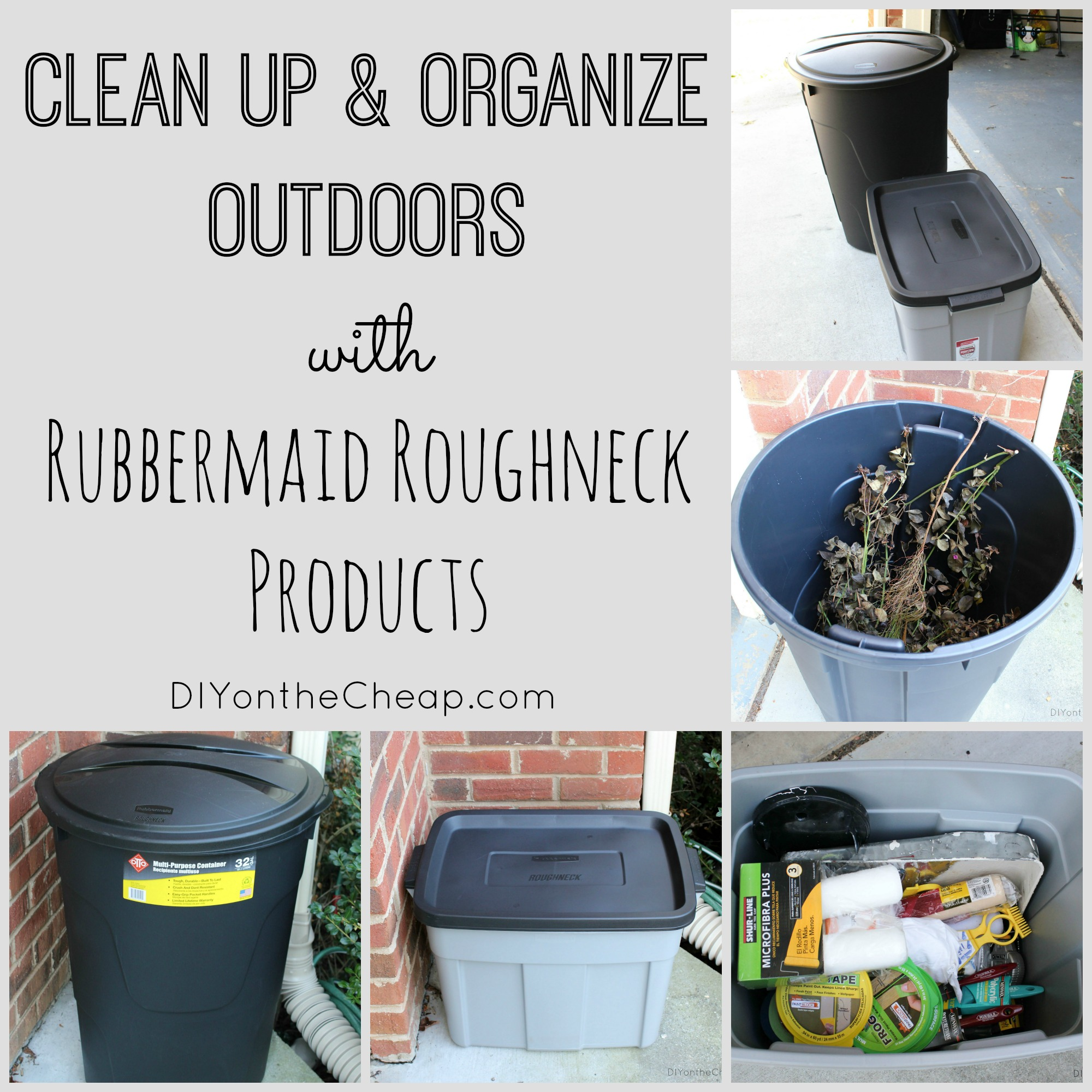 Outdoor Organizing with Rubbermaid