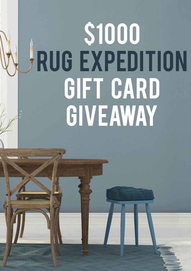 Enter to win a $1000 Rug Expedition Gift Card! This is an amazing giveaway!
