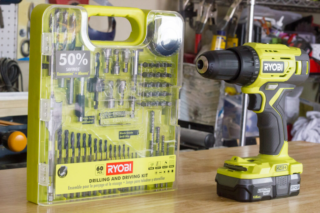 RYOBI Drilling and Driving Kit and Drill/Driver