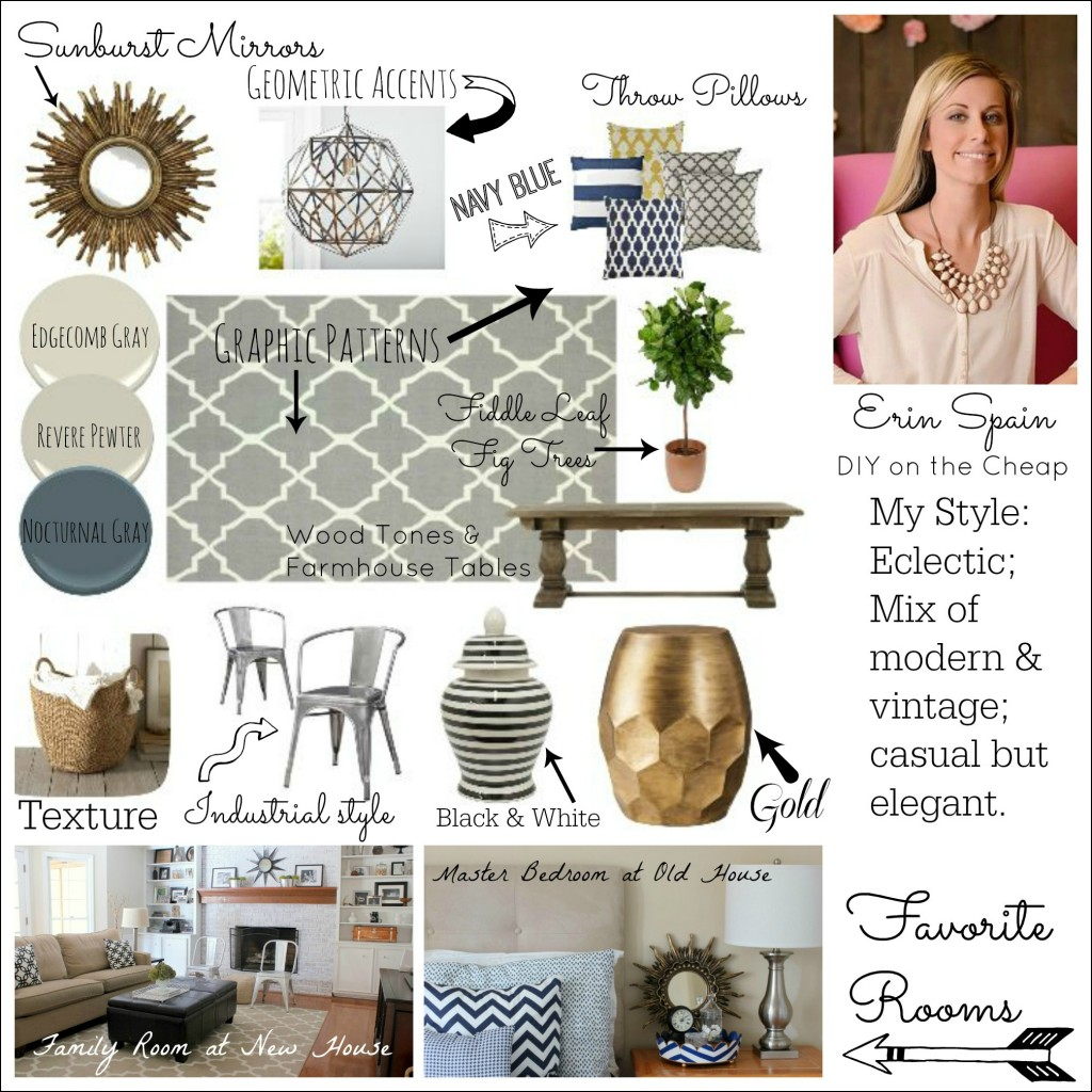 Signature Style Series: Eclectic, modern/vintage, casual/elegant style via DIY on the Cheap.