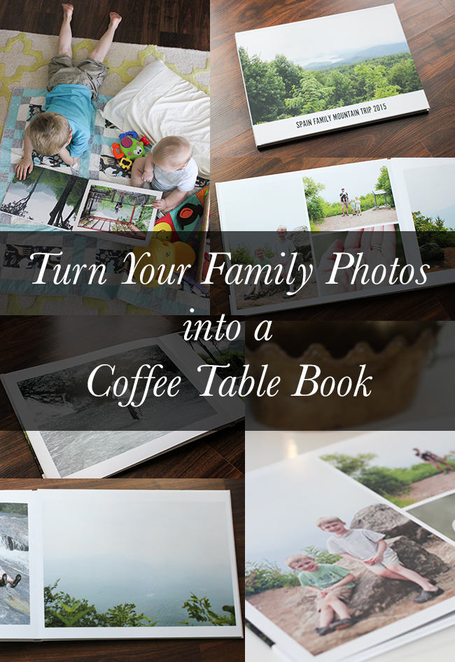 See how to have your family photos made into a coffee table book!