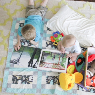 Turn your family photos into a coffee table book.