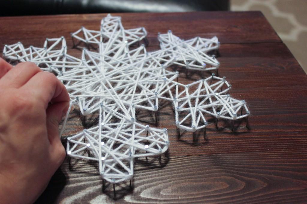 DIY Snowflake String Art Tutorial