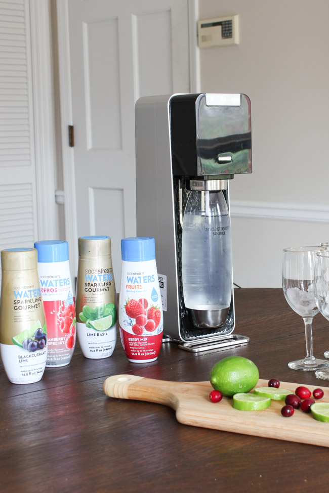 Make holiday mocktails with the SodaStream Power Sparkling Water Maker! #WaterMadeExciting #CollectiveBias #ad